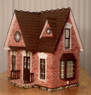Dollhouse Minis My New Red Brick Orchid Dollhouse