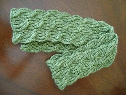 Steps And Stitches Reversible Cabled Brioche Stitch Scarf
