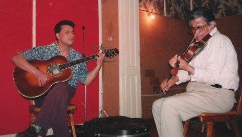Listos para grabar!...Junto al Maestro SIXTO PALAVECINO /1997- Con SIXTO Palavecino