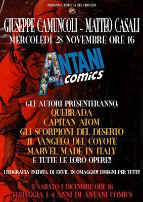 Giuseppe Camuncoli e Matteo Casali da Antani Comics