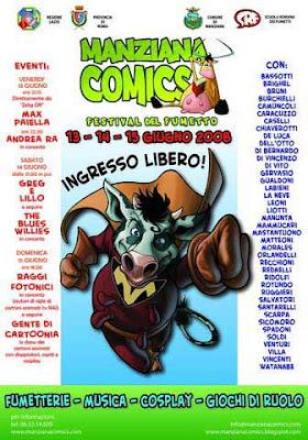 Il manifesto di Manziana Comics 2008