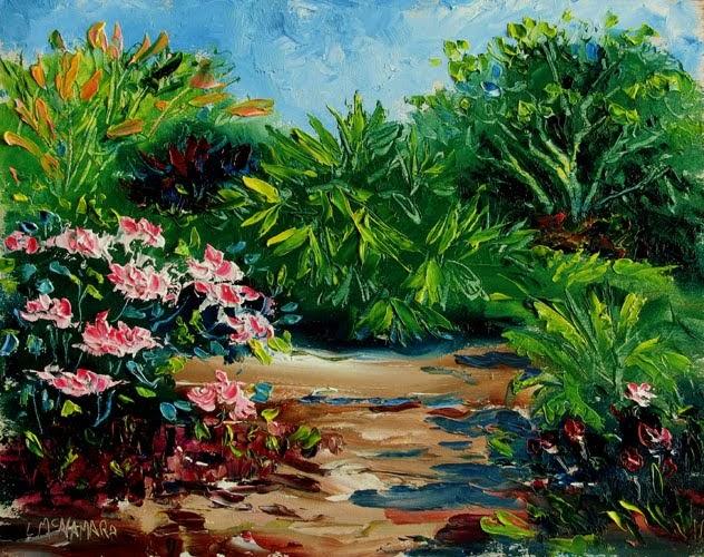 Heathcote Botanical Gardens: Lori's Stormy Art And Daily Paintings: Daily Painting 1022