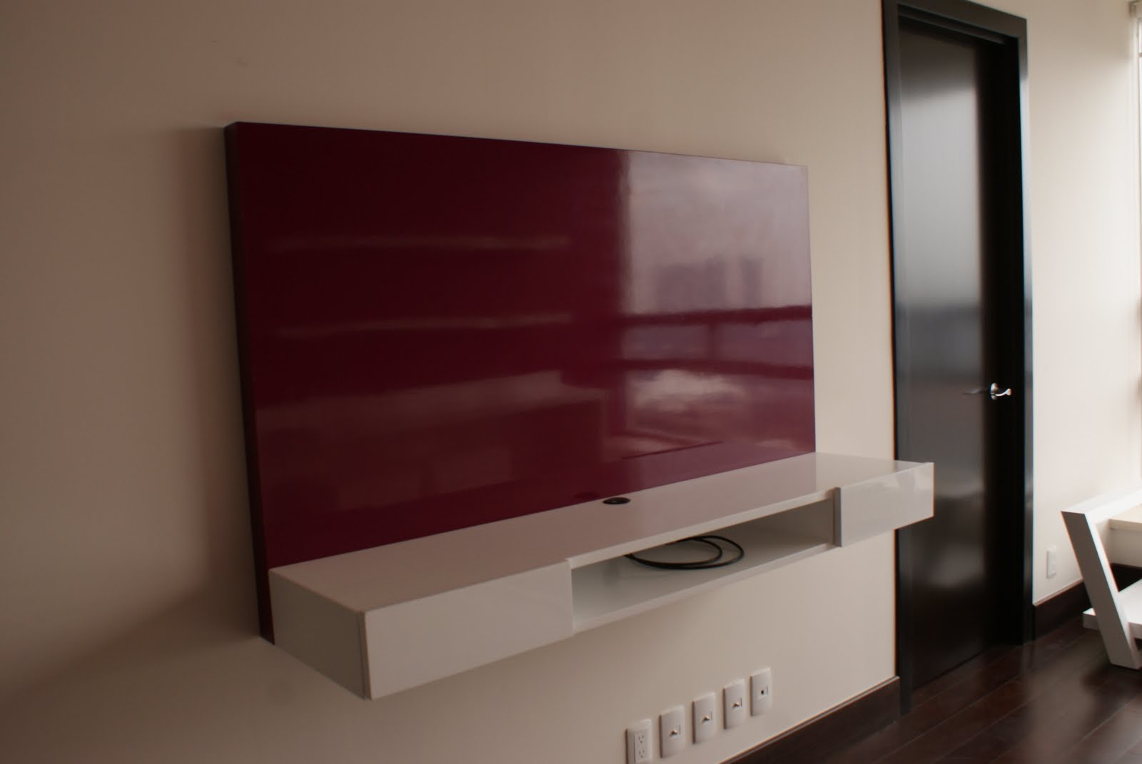 Muebles Tv Colgados Colgar Tv Base De Apoyo Tv Lcd Led Impecable Estado