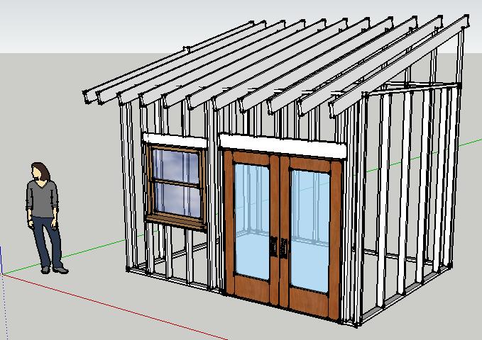 Tiny Backyard House Framing Sketch And Design Updates