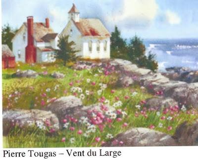 Pierre Tougas, Vent du large, watercolor, 12