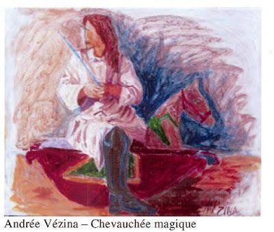 Andree Vezina, Chevauchee magique, acrylic, 15