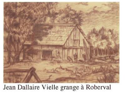 Jean Dallaire, Vielle grange a Roberval, pencil, 12