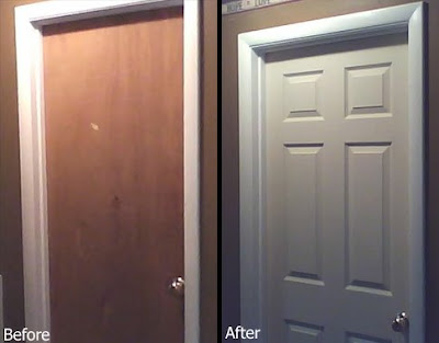 The Old Doors Were Just As Plain As Could Be And The Homeowner Is Wanting  To Upgrade To A Nicer Look Using 6 Panel Masonite Doors.