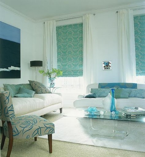 Fashion Designing: Living Room : 7 looks - 7 different colors