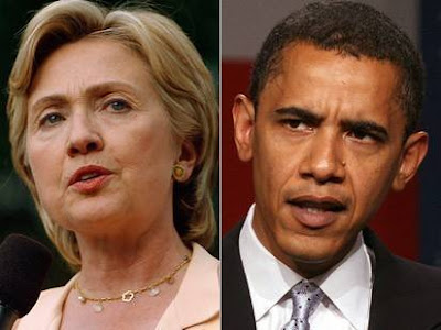 Hillary Clinton and Barak Obama