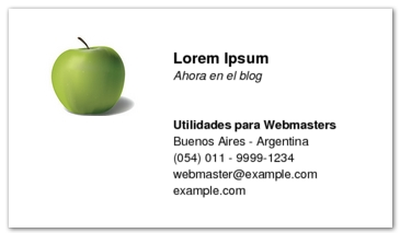 Tarjetas de visitas on-line