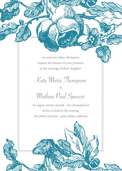 """I Do"" Budget Weddings: Free Invitation Downloads"
