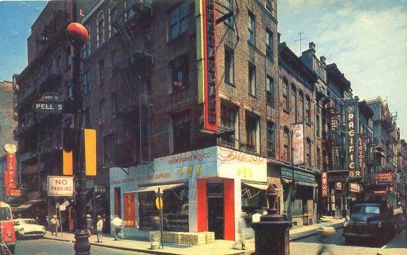 new york history geschichte pell street chinatown 1950s. Black Bedroom Furniture Sets. Home Design Ideas