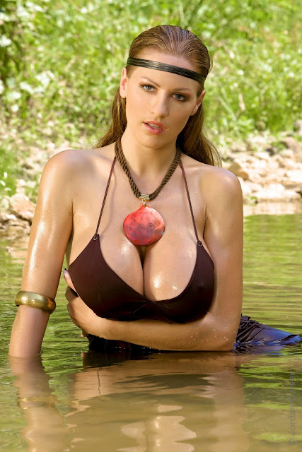 Sexy Hot Jordan Carver Pocahontas Big Boobs