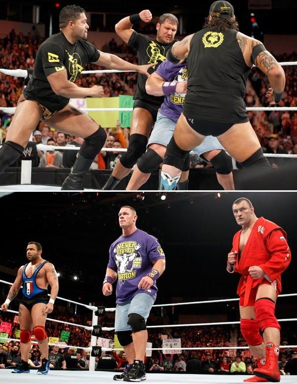 Wwe Nexus Vs John Cena Team WWE RAW 17/01/2...