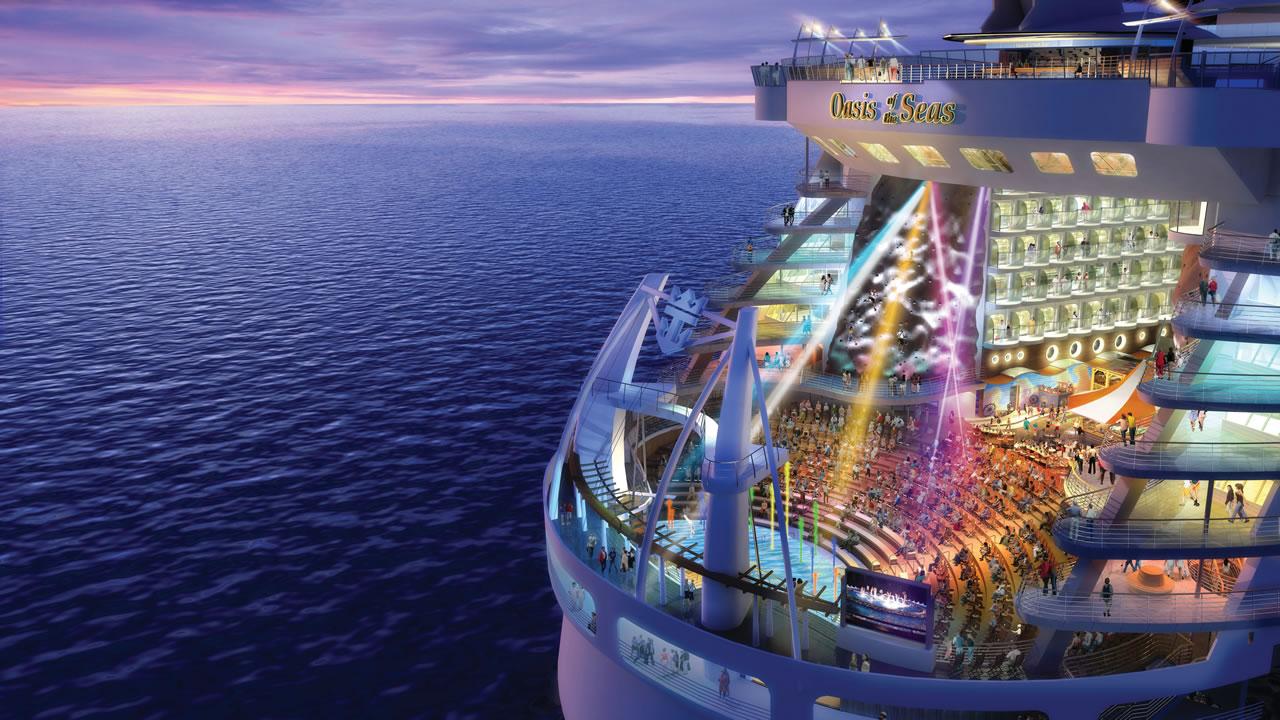 oasis of the seas el crucero mas grande del mundo. Black Bedroom Furniture Sets. Home Design Ideas