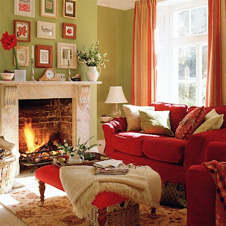 ������� ���� ����� ������ red, green and taupe living room.bmp