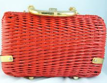 Red Vintage Wicker Purse