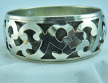 Silver Bracelet with Cutout design