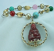 Spinning Buddha Bracelet at www.vintagecouturejewelry.com