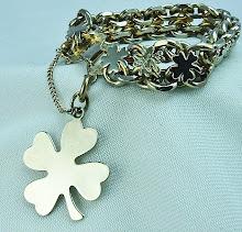 1940s good luck charm bracelet