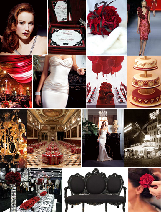 Bridal Bubbly Moulin Rouge Inspiration Board