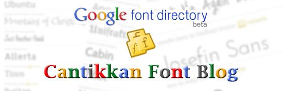 cantikkan blog dengan google font api