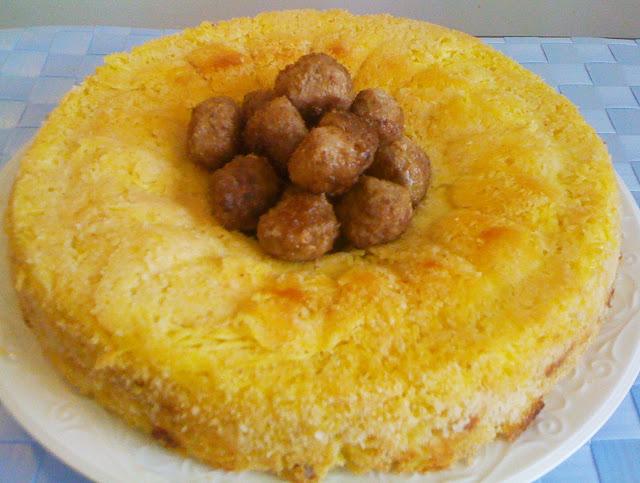 timballo di capellini - baked pasta flan recipe