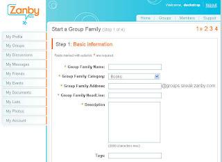 Start a Group Family