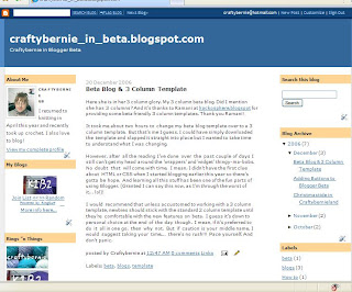 screenshot of 3 col beta blog