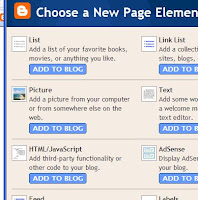 Add Page Element screenshot