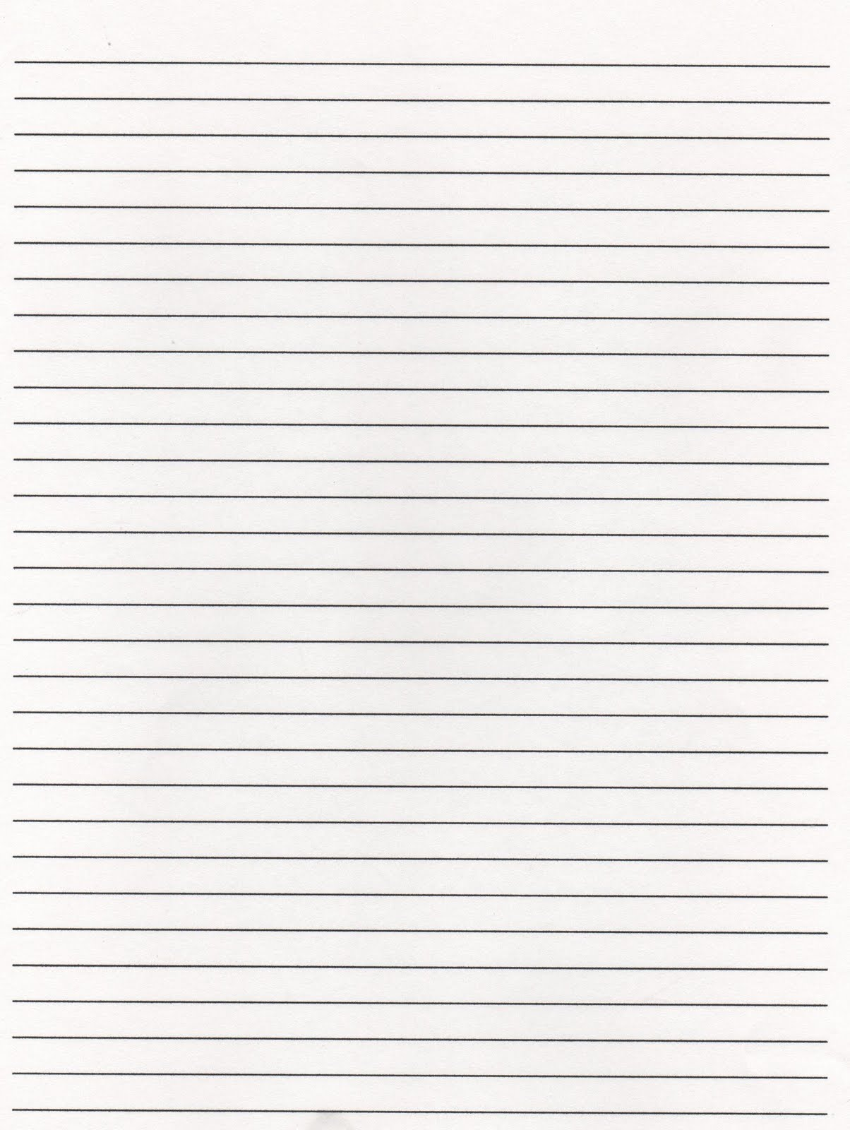 Elementary Lined Paper Template  Lined Writing Paper
