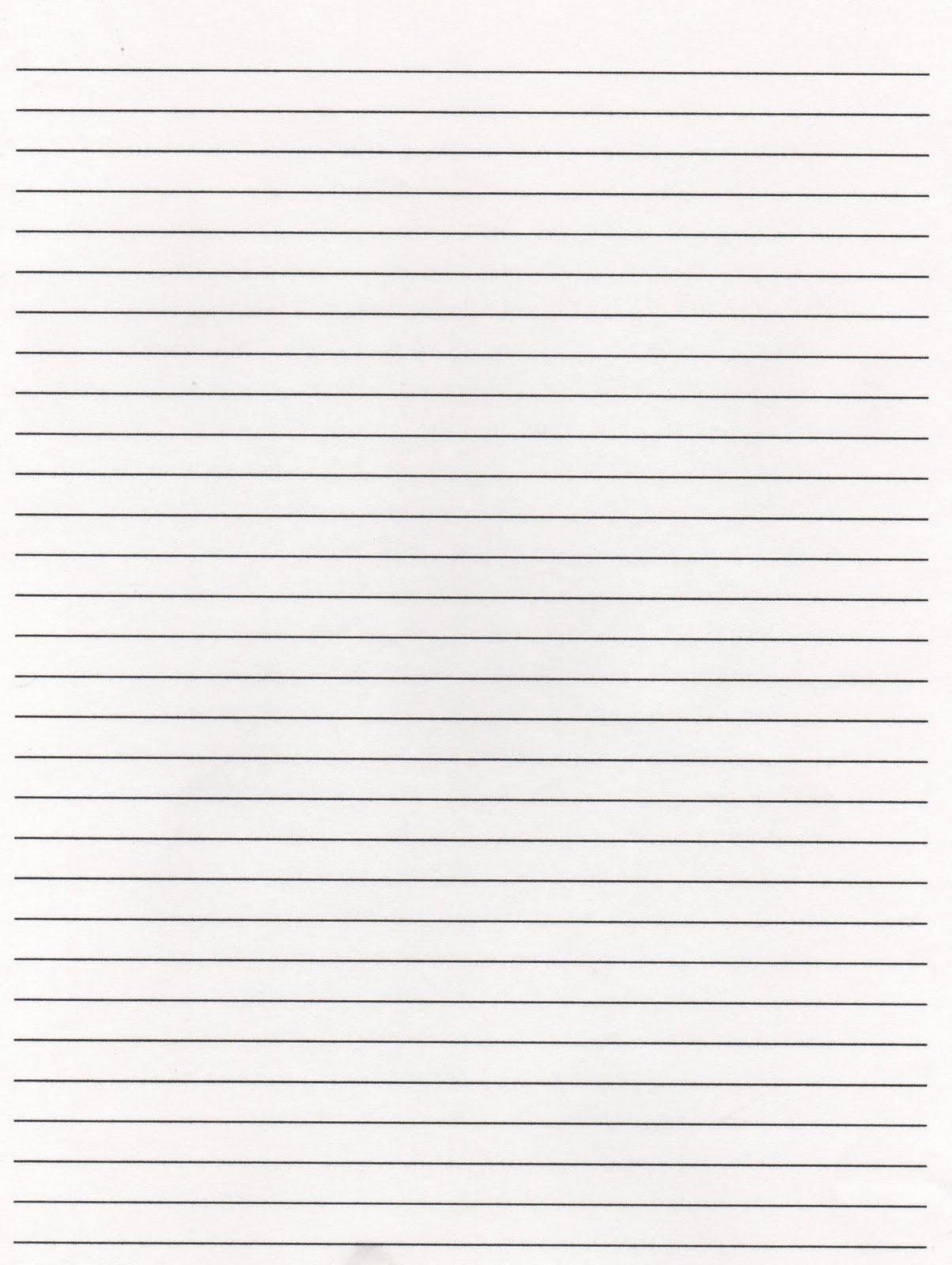 Elementary School Enrichment Activities Lined Paper