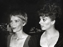 With her childhood friend Mia Farrow