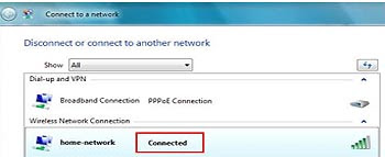 How to connect a PC running windows Vista to a wireless network?