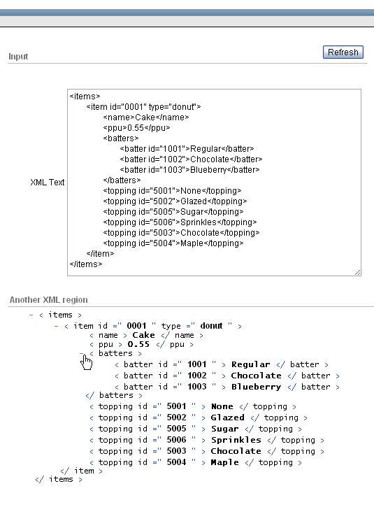 ORA-00001: Unique constraint violated: Display any XML as