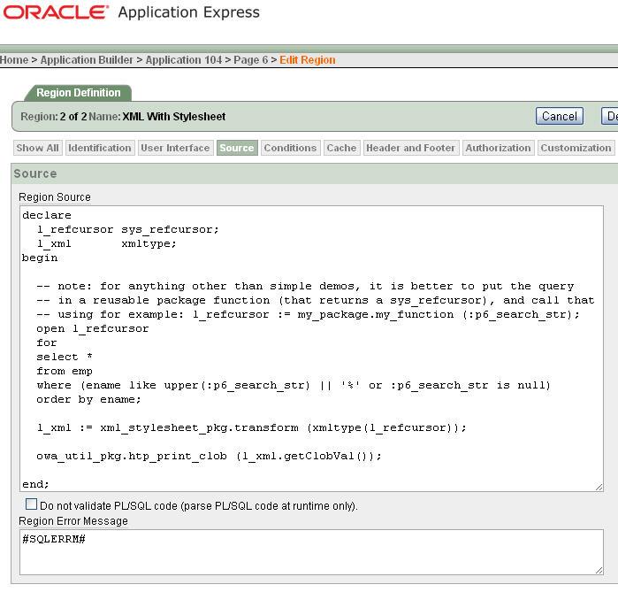ORA-00001: Unique constraint violated: Display any XML as clickable