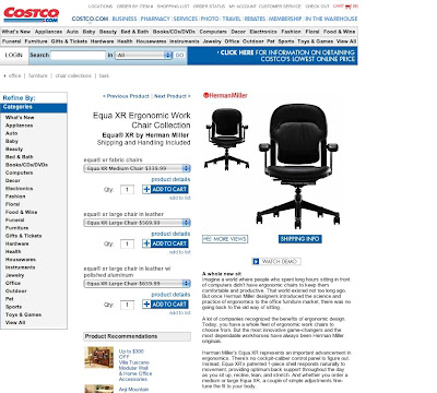 I Recently Heard A Rumor That Costco Was Going To Carry Herman Miller Chairs So Today Went S Website See For Myself As You Can It