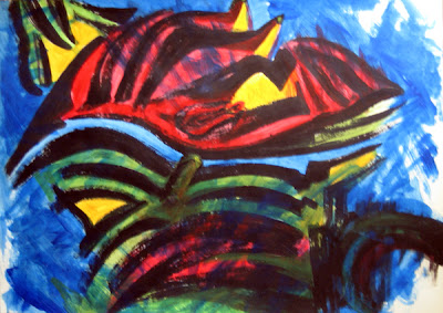 Zebra II - a painting by Hadasa Stoler