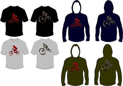 MTB Downhill T shirt Design