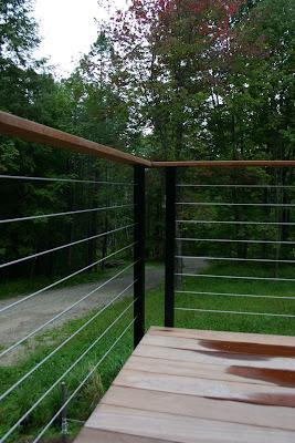 Modern Cabin Deck Railing