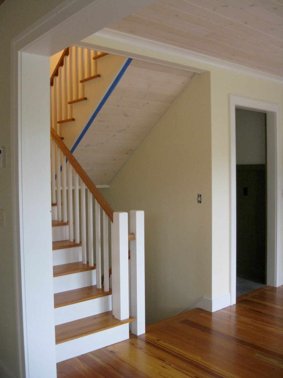 New Vermont Farmhouse Stairs
