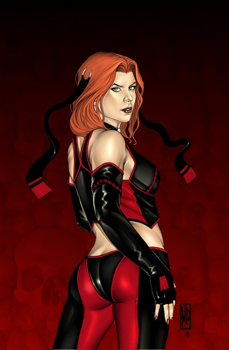Wallpaper Gaming Girl El Rinc 211 N De La Viuda Negra Bloodrayne 2005