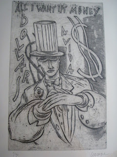 Obra de Ceesepe grabado titulado: Avida dollars