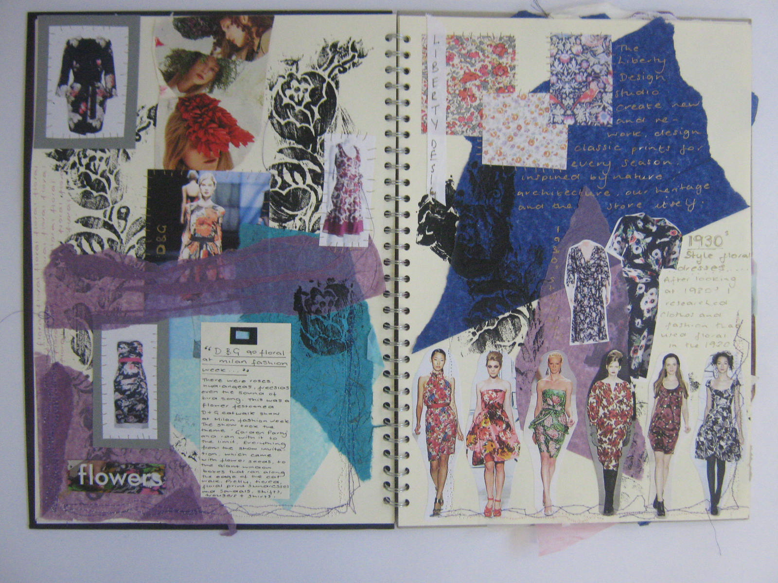 Ba Hons Fashion Sketchbook Example