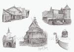 My sketch collage of EPCOT's Norway