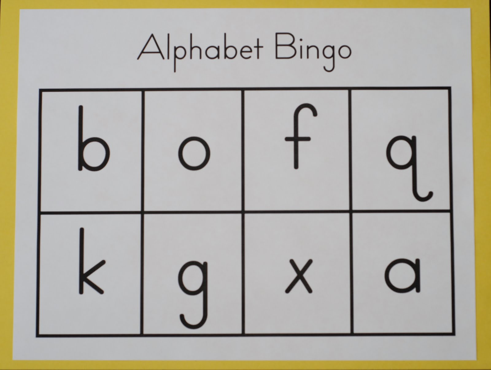 Reading For Preschool Alphabet Bingo