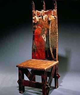 Pre Raphaelite Art Morris  Rossetti Chair  The Arming