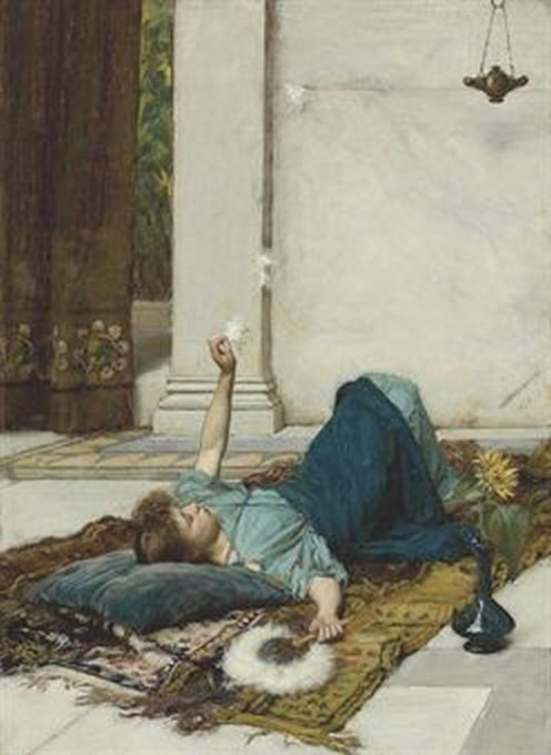 Pre Raphaelite Art John William Waterhouse Dolce Far Niente