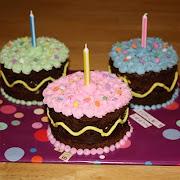 Brownie Birthday Mini-Cakes